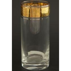 Стакан для воды 300 мл Гольф, выполнен в декоре панто+сочетание золота и платины