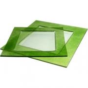 Тарелка квадр «Бордер» 25*25см зеленая