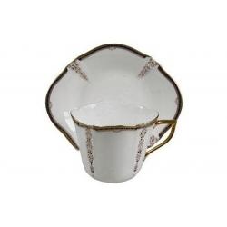 Чайная чашка с блюдцем в подарочной упаковке 130мл
