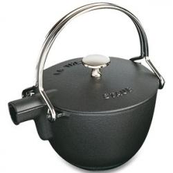 Чайник чугунный 1,0 л, цвет черный