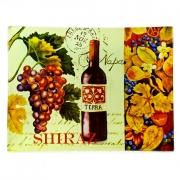Блюдо прямоугольное стеклянное 41*30см «Вино»