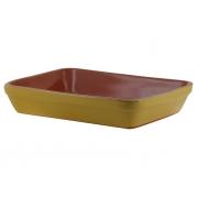 Форма для запекания 28 см прямоугольная желтая