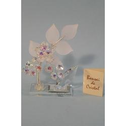 Бонсай с хризантемой белый, 12 см.