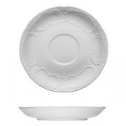 Блюдце «Моцарт», фарфор, D=9см, белый