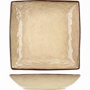 Салатник квадратный «Кунстверк», керамика, 550мл, H=40,L=225,B=225мм, зелен.