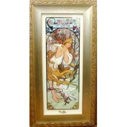 Картина «Весна 1897г « 46,5х24,5 см.Серия Mucha. Подарочная упаковка