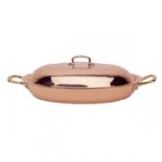 Сковорода для паэльи с крышк.38*26см,h=11