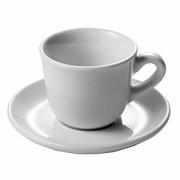 Чашка кофейная «Нова», фарфор, 70мл, D=60,H=45,B=80мм, белый