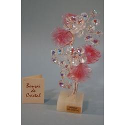 Бонсай с хризантемами розовый 19 см