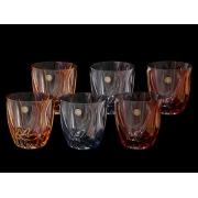 Набор стаканов для виски Ocean (Волна) цветной микс 2х3