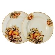 Набор тарелок: суповая + обеденная Зимние яблоки