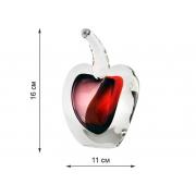 Скульптура для интерьера яблоко красн-фиол. мал.16х11см