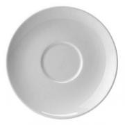 Блюдце «Лиф»; фарфор; D=16.5см; белый