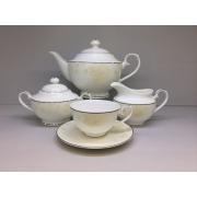 Сервиз чайный «Бежевая роза» 17 предметов на 6 персон