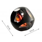 Скульптура для интерьера шар в кубе большой 9,5х9,5см