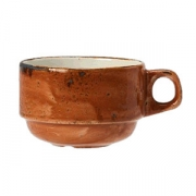 Чашка чайная «Крафт», фарфор, 225мл, D=83,H=57,L=110мм, терракот