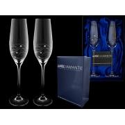Набор бакалов для шампанского (2шт) Пружинка с кристаллами