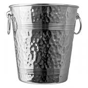 Ведро для шампанского «Проотель», сталь, 4л, D=20/14,H=21,B=21.5см, металлич.