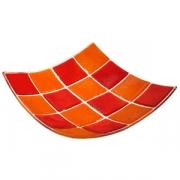 Блюдо «Каро» 30*30см красно-оранж.