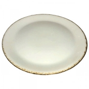 Тарелка мелкая «Браун дэппл» D=30см; белый, коричнев.