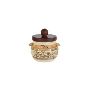 Банка для сыпучих продуктов с деревянной крышкой (чай) Старая Тоскана