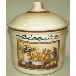 Банка для сыпучих продуктов с керамической крышкой (большая) «Лимоны» 2 л