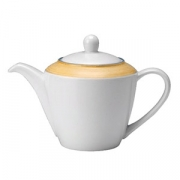 Чайник «Рио Еллоу», фарфор, 600мл, белый,желт.
