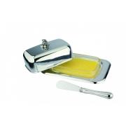 Масленка с ножом 18x12x7 см Винтаж