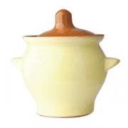 Горшок для запекания «Грибок», керамика, 650мл, D=14.5,H=11см, желт.,коричнев.