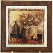 Подставка под горячее из дерева с керамикой «Натюрморт»