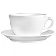 Пара чайная «Кунстверк», фарфор, 200мл, D=9,H=8,B=15см, белый