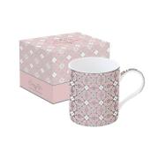Кружка Геометрия (розовая) в подарочной упаковке