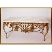 Стол «Наполеон» прямоугольный золотистый 52х120х62 см.