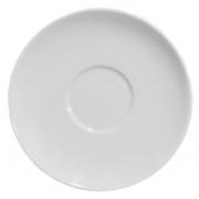 Блюдце, фарфор, D=16см, белый