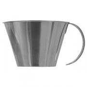 Мерный стакан низкая модель; сталь нерж.; 1л; D=15/19.5,H=10.5см; металлич.