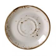 Блюдце «Крафт», фарфор, D=16.5см, белый