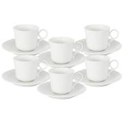 Набор: 6 чашек 0,12л + 6 блюдец для кофе «Шёлк»