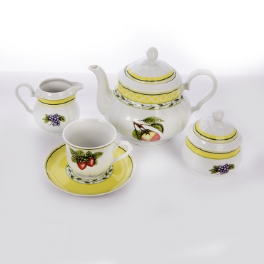 Сервиз чайный на 6 перс. 15 пред «Роза 30200»