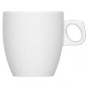 Чашка чайная «Димэншен»; фарфор; 250мл; белый