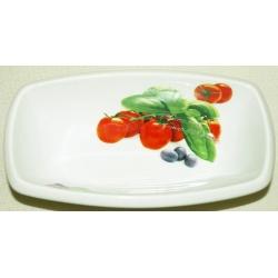 Салатник прямоугольный «Помидоры» 21 см