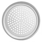 Поднос для пиццы перфор. «Проотель», алюмин., D=335,H=10мм, металлич.