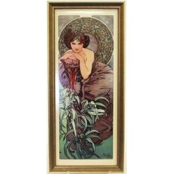 Картина «Изумруд» 16х38 смю Серия: Mucha. Подарочная упаковка