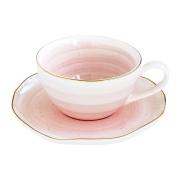 Чашка с блюдцем Artesanal (розовая) без инд.упаковки