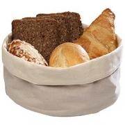 Корзина для хлеба парусина; D=20,H=9см; белый