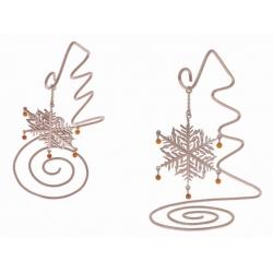 Сувенир «Снежинка с янтарем»