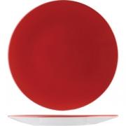 Тарелка «Фиренза ред» d=15.5см фарфор