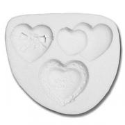 Форма для марципана «Сердечки», силикон