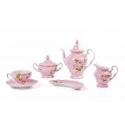 Сервиз чайный 6 перс. 16 пред. «Алвин розовый»