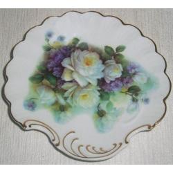 Блюдо «Белые розы и сирень» 16 см