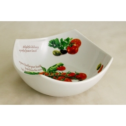 Салатник «Помидоры и оливки» 21 см